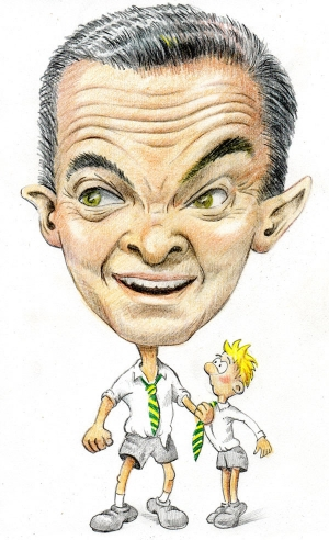 Caricature of Christopher Pyne, Australian Education Minister